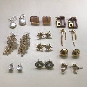 Lot of Ten Pairs of New and Vintage Earrings
